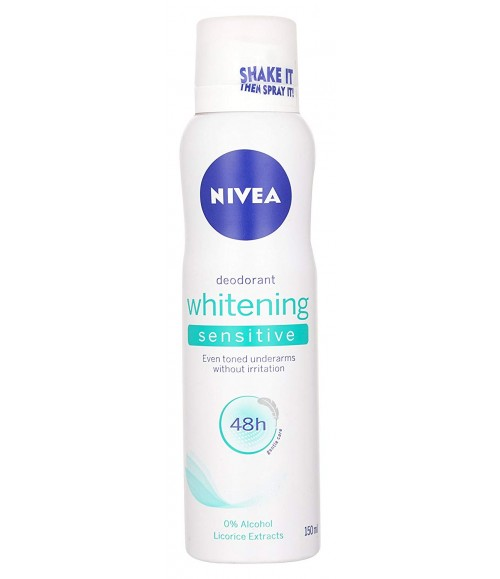 Nivea Whitening Sensitive 48 Hours Gentle Care Deodorant, 150ml