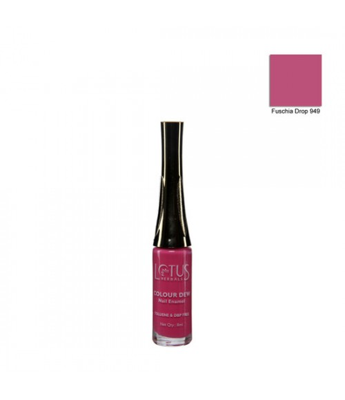 Lotus Herbals Nail Enamel Fuschia Drop Shade No. 949 (7 ml)