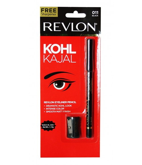 Revlon Kohl Kajal Eye Liner Pencil Black, 1.14g